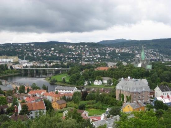ทรอนด์ไฮม์, นอร์เวย์: View of the town from the fort - Trondheim, Norway
