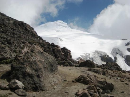 Glacier at Cayambe volcano