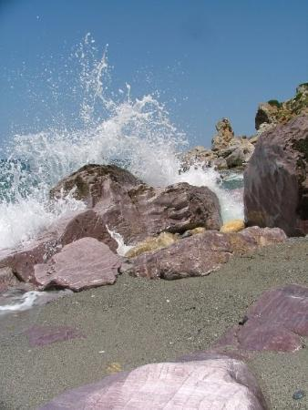 Skiathos, Griechenland: Lila klippor på Kastro