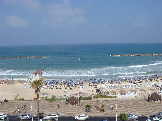 Hotel Prima Tel-Aviv: View at 8am
