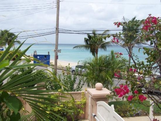 บาร์เบโดส: Veiw from our apartment, the beach was 10 seconds walk away!!