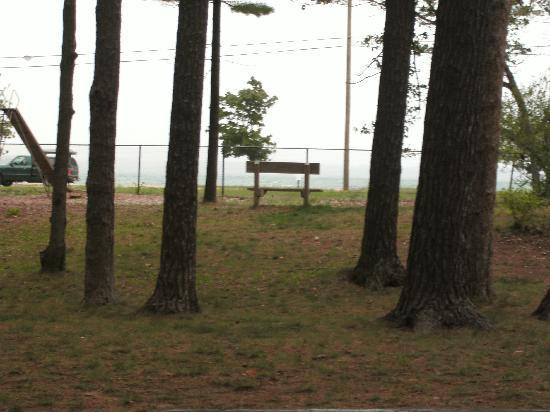 Traverse City State Park: notice the freeway