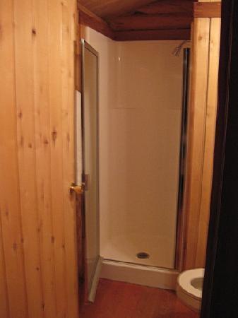 Small shower Cabin 9 - Picture of Glacier Trailhead Cabins, Saint ...