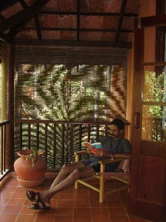 Vythiri Resort: A relaxed afternoon on the private balcony