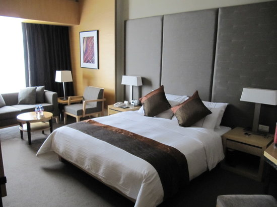 Jianguo Hotel: Tastefully appointed, but the bed was a little hard.