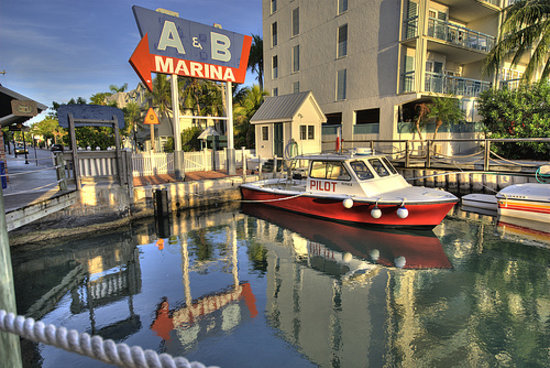 Key West Treasure Chest: Location: A&B Marina by the big sign