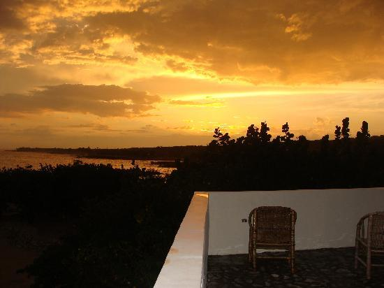 Coral Cove Resort: View of sunset from Starbright suite.