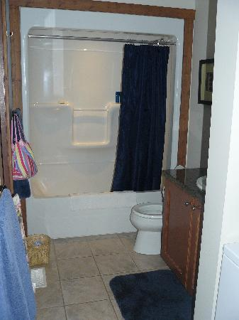 Casa Del Mila Oro Resort: Basic bathroom with laundry