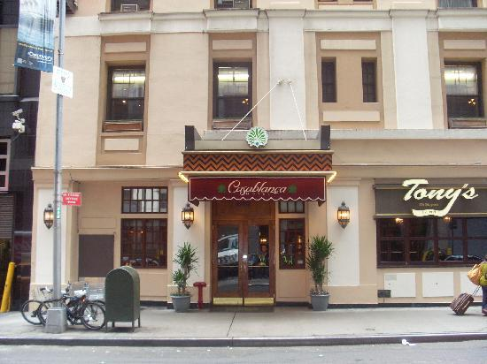 Front View Of Hotel Steps Away From Times Sq Picture Of Casablanca Hotel By Library Hotel Collection New York City Tripadvisor