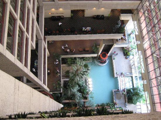 Looking down into atrium/lobby from the 10th floor - Picture of ...