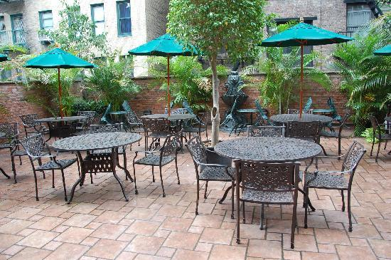 The French Quarters Guest Apartments: Back patio off the Mezz level of the resteraunt/bar