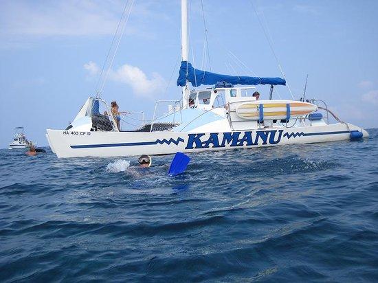 Kailua-Kona, HI: the catamaran