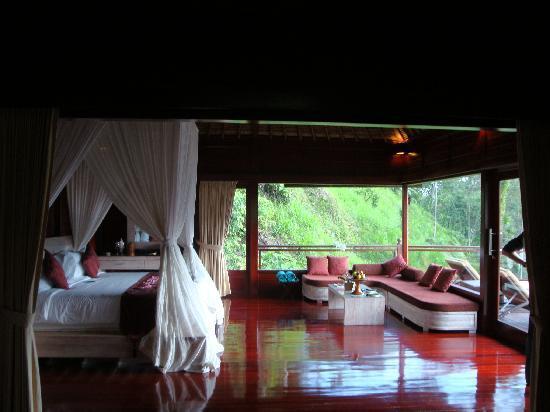 ayung river pool villa - schlaf-/wohnzimmer - picture of kupu kupu, Wohnzimmer