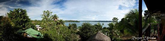 Isla Bastimentos, Panamá: Fotografia panorámica desde el balcón.