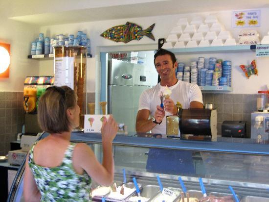 Paolo serves the best at Gelateria Il Porticciolo