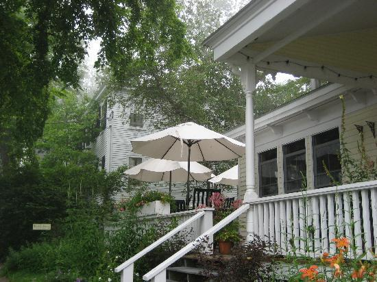 Tranquil breakfast on Pentagoet Inn's porch