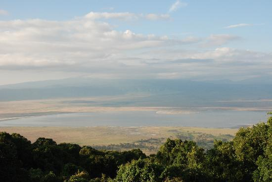 andBeyond Ngorongoro Crater Lodge: View from the Crater lodge cabin porch