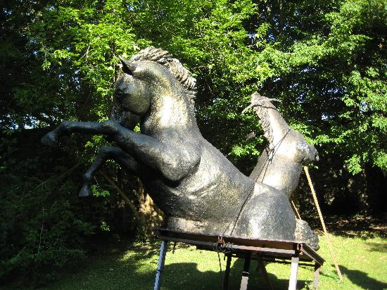 Chambon-sur-Voueize, France: Jean-Pierre's horse in the grounds