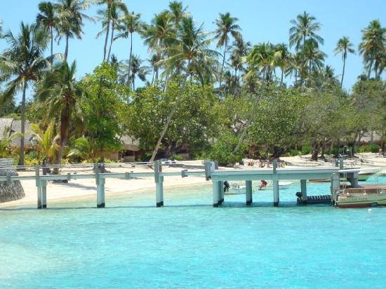 Sofitel Moorea Ia Ora Beach Resort: MOLO DAVANTI AL RISTORANTE