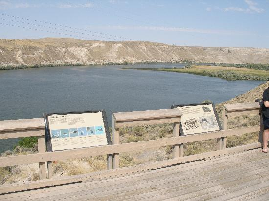 Comfort Inn & Suites: Haggerman Fossil Beds National Monument Snake River viewing platform.