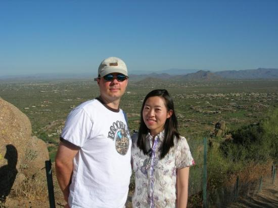 สกอตส์เดล, อาริโซน่า: near Scottsdale, AZ with former student, Se-hee, from Korea - 06/05