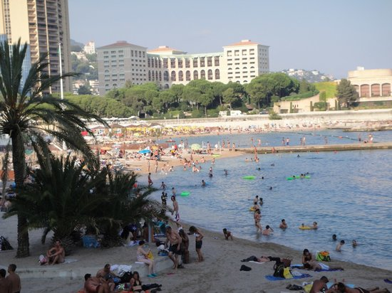 Monte Carlo, Monaco: beach view from above
