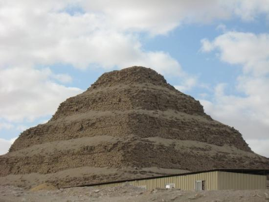 The Step Pyramid at Saqqara Built by Imhotep for 3rd dynasty king Dsojer (2667 - 2648 BC) befor