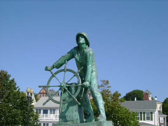 Gloucester, MA : Man at the wheel