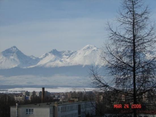 Poprad, Slovakia another view of the High Tatra Mountains
