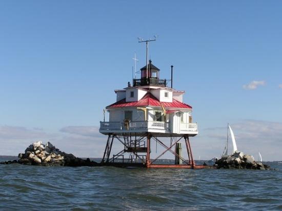 แอนแนโพลิส, แมรี่แลนด์: Photo of the Thomas Point Lighthouse, located on the Chesapeake Bay.