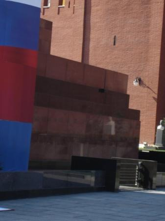 Just the side of Lenin's Mausoleum...the rest of blocked of by a platform set up for May 9th