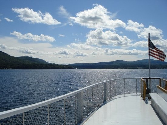 view of Lake George steamboat ride