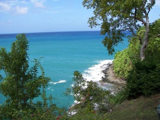 แคสตรีส์, เซนต์ลูเซีย: St. Lucia looking towards Martinique.