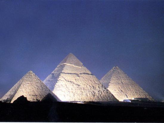 กิซ่า, อียิปต์: Las Piramides de noche en espectaculo de luz y sonido