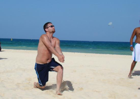 The Royal Playa del Carmen: Playing vollyball with the amazing staff.