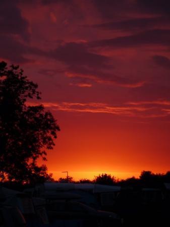 ยอร์ค, UK: Sunset over Sheriff Hutton