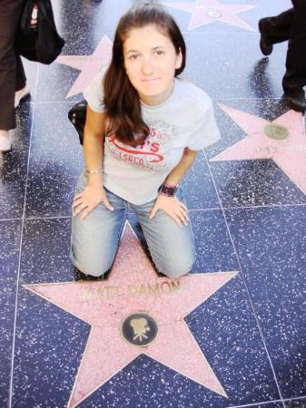 Hollywood Walk of Fame: i don't let any one in between my legs :))