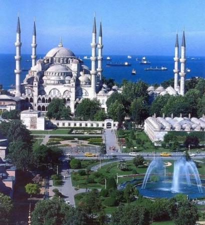 มัสยิดสุลต่านอาห์เมต: bue mosque