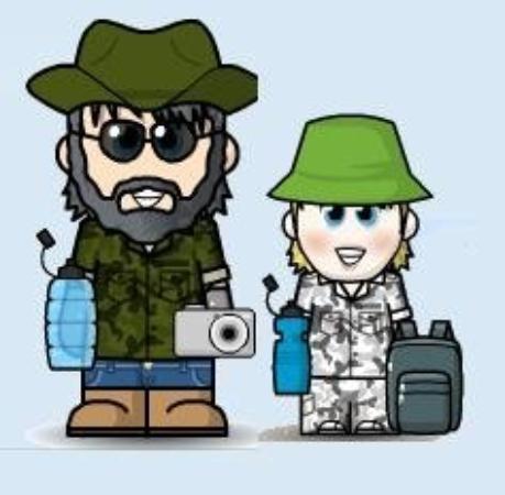 Abbeville, AL: Allan and Debra's hiking avatars