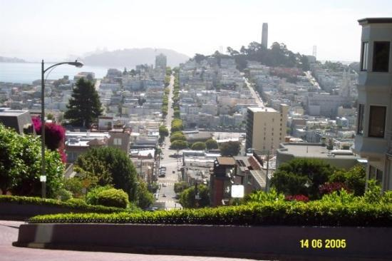 Top of Lombard Street, SF