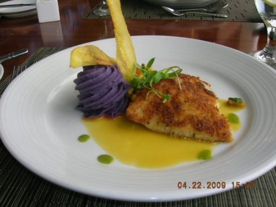 Fish main course..Maui Culinary Academy
