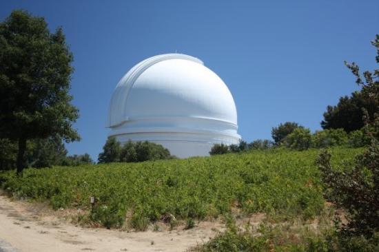 Palomar Observatory: The Hale Telescope Dome, at 5550 ft altitude