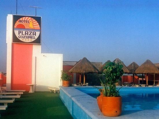 Hotel Plaza Cozumel: Cozumel Plaza Hotel, Mexico 1991