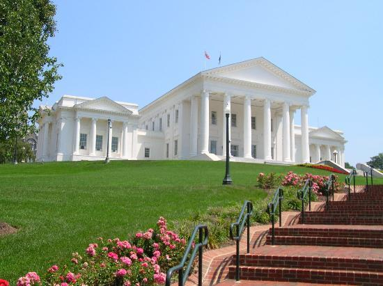Virginia Capitol Building: View of Capitol from Visitors Entrance