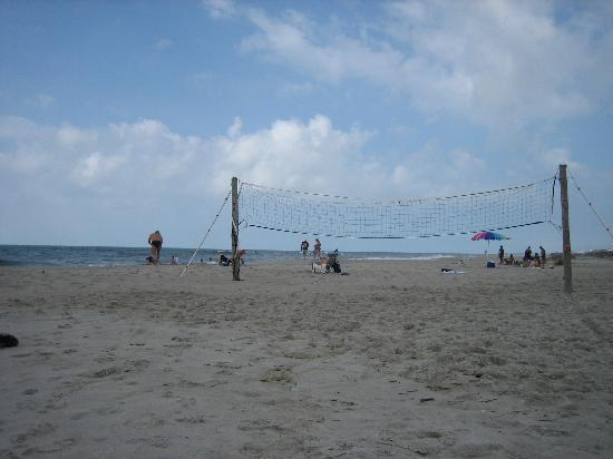 The Winds Resort Beach Club Volleyball Net Set Up On