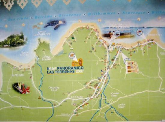 SignMap of Las Terrenas Picture of Las Terrenas Samana Province