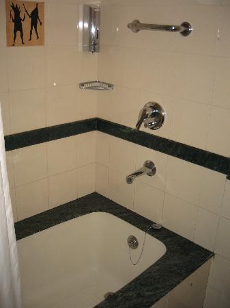 โรงแรมเลมอนทรี ออรังกาบัด: Bathroom shower and tub