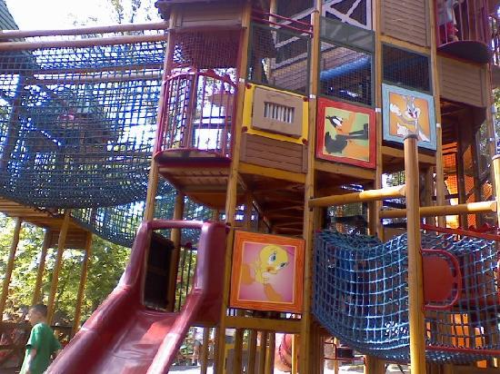 Six Flags St Louis: this is a jungle jym style tree house, our 4 yr old loved it :)