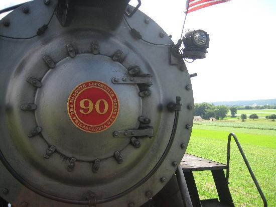 Strasburg Rail Road: Up close to the locomotive