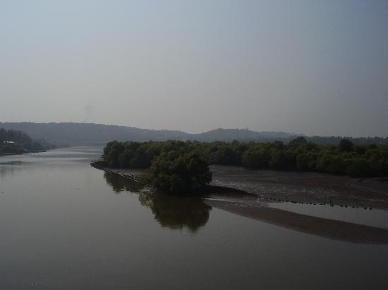 Candolim, India: view from bridge